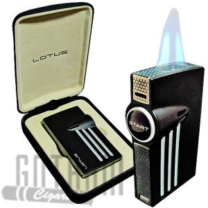 Buy Lotus L52 Orion - Twin Pinpoint Torch Flame Lighter online at the lowest prices at GothamCigars.com and save! – Click here
